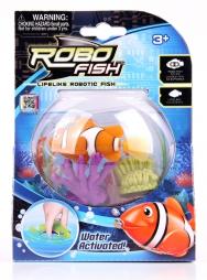Робо-рыбка с двумя кораллами